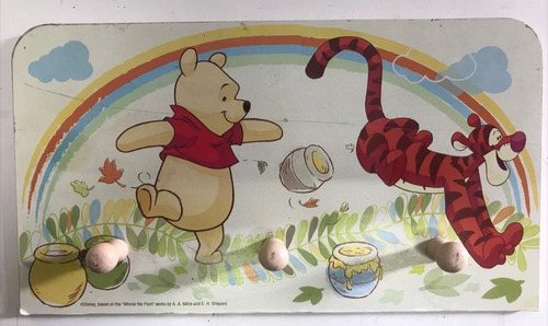 Perchero Para Pared Winnie Pooh Disney Chicos Chicas Bebes