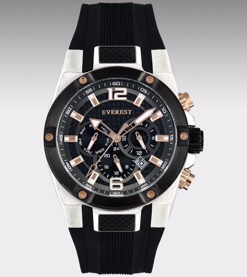 Everest Relógio Masculino Silicon Á Prova D´agua C Garantia1