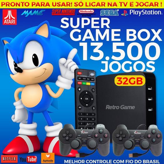 Super Game Box Video Game Retro Multijogos Com 13.500 Jogos
