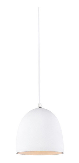 Pendente Luminaria Concreto 20 Cm Lustre Lighting Branco