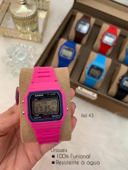 Relógio Casio Rosa Funcional Bateria Extra