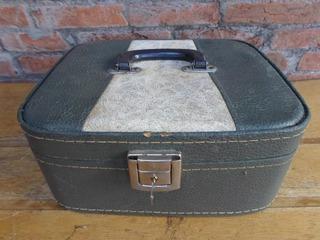 Malinha Pequena Vintage Antiga Com Chave Retro Bolsa