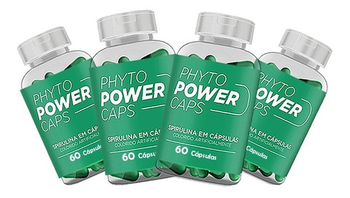 Phyto Power Caps 4 Potes Natural Emagrecedor Dos Famosos!!!