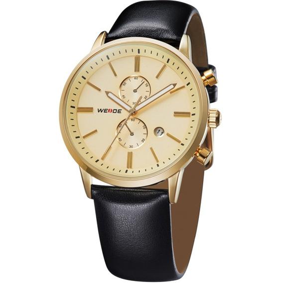 Relógio Masculino Pulso Weide Quartz Analógico Wh-3302