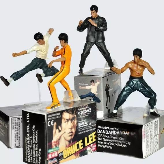 4 Bonecos Bruce Lee Bandai Na Caixa 10 Cm De Altura