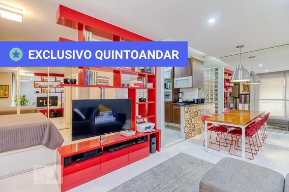 Studio No 1º Andar Mobiliado Com 1 Dormitório E 1 Garagem - Id: 892968306 - 268306