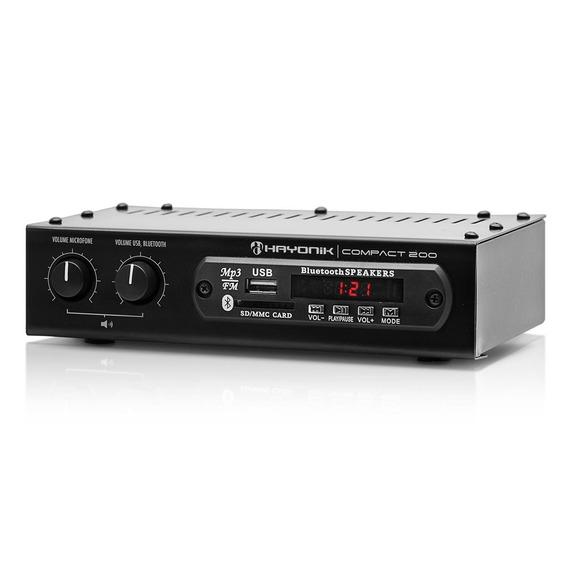 Amplificador 20w Rms Bivolt Usb Sd Fm Compact 200 Hayonik