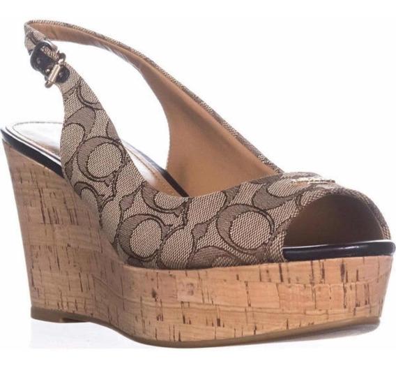 Tacones Cuñas Plataforma Coach Mujer Zapatos Flats Tenis