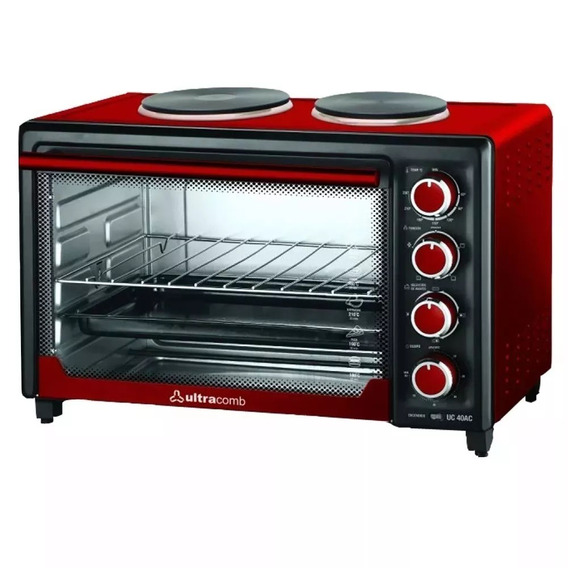 Horno Electrico Ultracomb Uc40ac 40 Lts + 2 Anafes 3200w