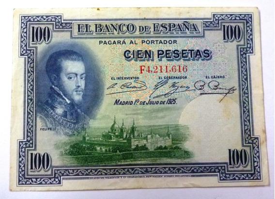 España Billete 100 Pesetas 1925 Vf Pick 69c