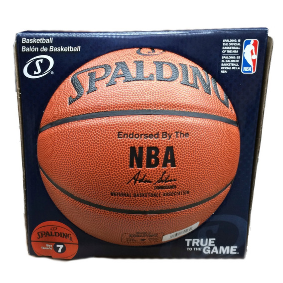 Balón De Basquetbol Nba Silver Spalding Indoor/outdoor #7