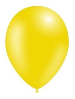 Globos Perlados Color Amarillo 12 Pulgadas X 50 U Decoración