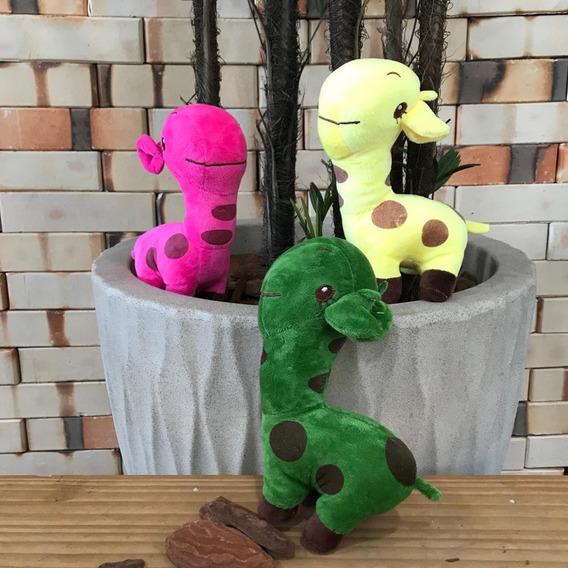 Kit 5 Boneco De Pelúcia Infantil Girafa Dinossauro Vaca B