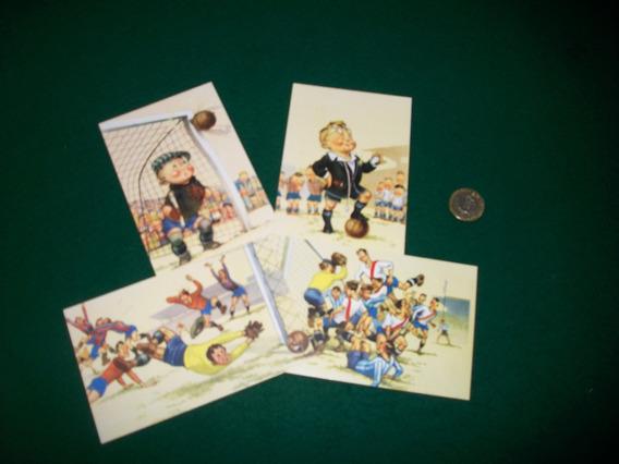 Tema Futbol . Set De 8 Tarjetas Postales .