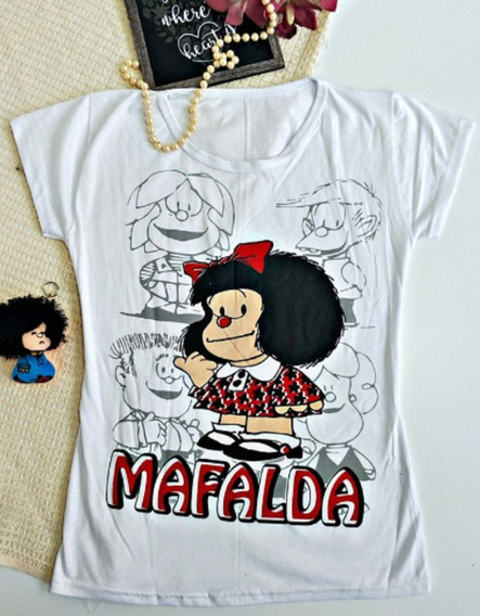 Playera Blusa Blanca Para Dama De Mafalda