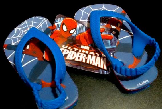 Ojotas Para Niño Spider Man Hombre Araña Original Marvel
