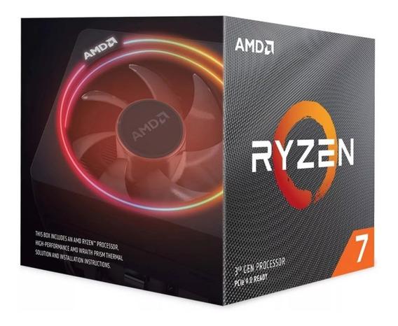 Processador Amd Ryzen 7 3800x 3.9ghz 36mb Am4 Wraith Prism Cooler