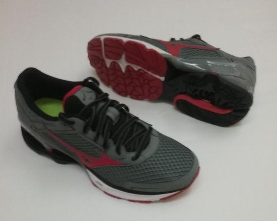 Tenis Mizuno Wave Frontier 11 P Running Grafit/ Vermelho