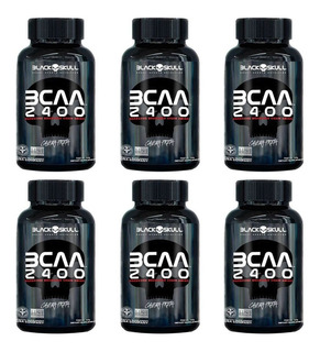 Kit 6x Bcaa 2400 Black Skull Oferta