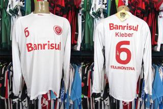 Internacional 2009 Camisa Reserva G Mangas Longas # 6 Kléber