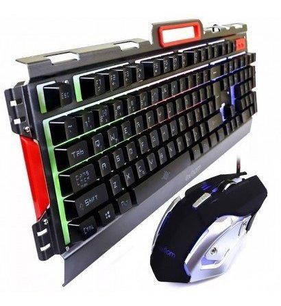 Kit Teclado+mouse Gamer Exbom G-3000 Com Iluminação De Led - Metal