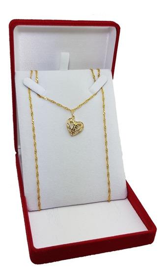 Super Oferta Hermoso Conjunto Cadena + Medalla 15 Años Enchapado En Oro 18kt. Calidad Premium. Garantía 6 Meses