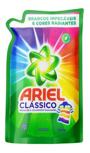 Sabão Líquido Ariel Clássico Roupas Brancas E Coloridas Sach