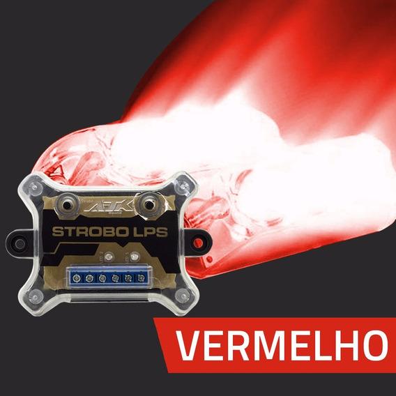 Kit Estrobo Ajk Sound Lps Vittro Vermelho - 9 Efeitos
