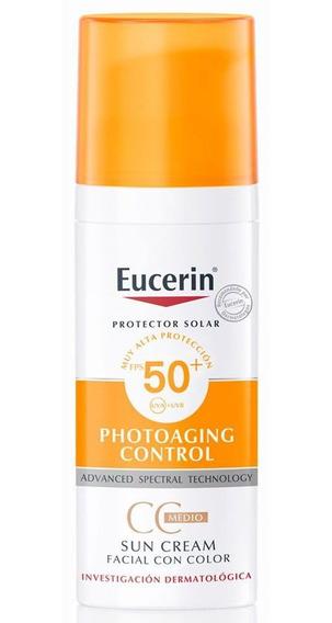Eucerin Sun Protector Solar Fps 50 Facial Cc Cream Color
