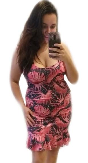 Kit 1 Vestido Plus Size Peplum Verão Tendencia Roupa Femina