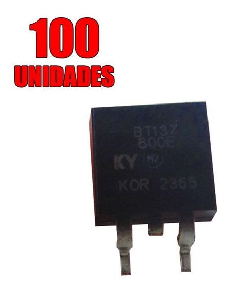 100x Transistor - Triac Montado - Bt137-800e To-263 - Smd