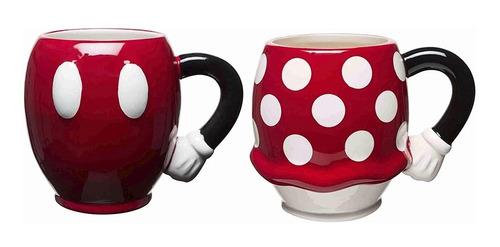 Imagen 1 de 3 de Juego De Taza Mickey Y Minnie Porcelana Zak Designs