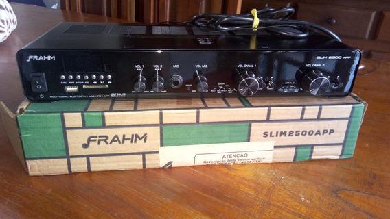 Amplificador Slim 2500 App G2 Multicanal Bt Usb Sd Fm Frahm