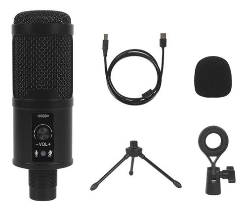 Imagem 1 de 12 de Kit De Microfone Usb Tripé De Montagem Contra Choque Para