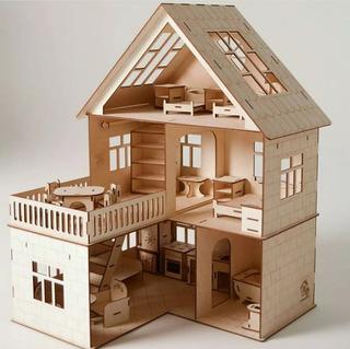 100 Vectores Casa Muñecas Castillo Muebles Corte Laser Cnc