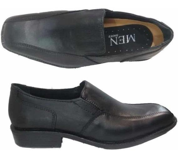 Zapatos En Punta Cuero Eco