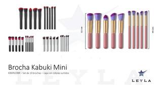 Brochas Kabuki Mini Mayoreo Con 8 Sets De 10 Brochas C/u