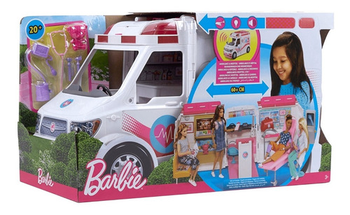 Barbie Hospital Móvil Carro Ambulancia Original