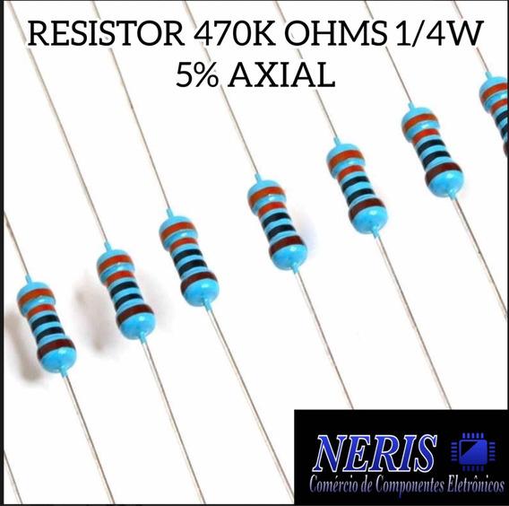 Resistor 470k Ohms 1/4w 5% Axial (59 Pç.)