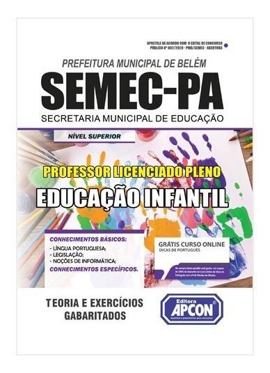 Apostila Semec-pa 2020 - Professor Lp Educação Infantil