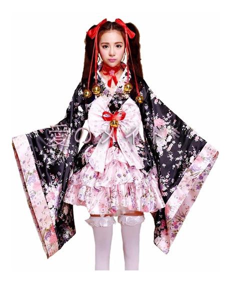 Kimono Cosplay Yukata Japonés Lolita Kawai!