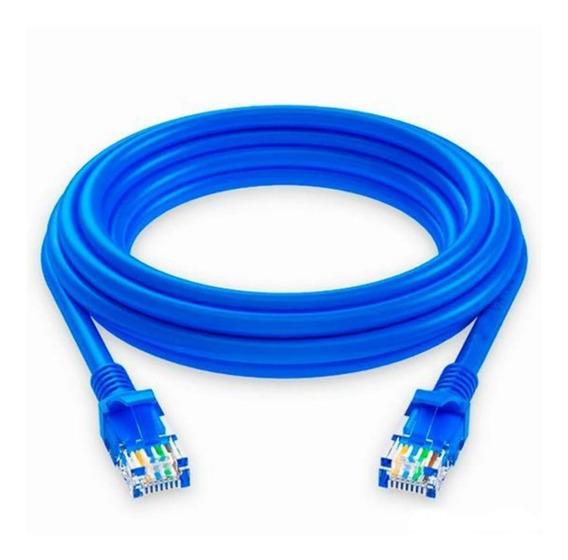 Cable De Red Patch Cord 3 Metros Armado Utp Cat. 5e Rj45