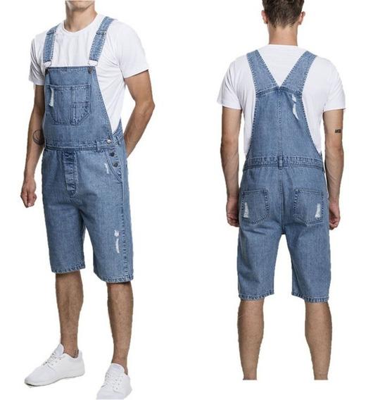 Jeans De Moda Para Hombre Shorts Overoles