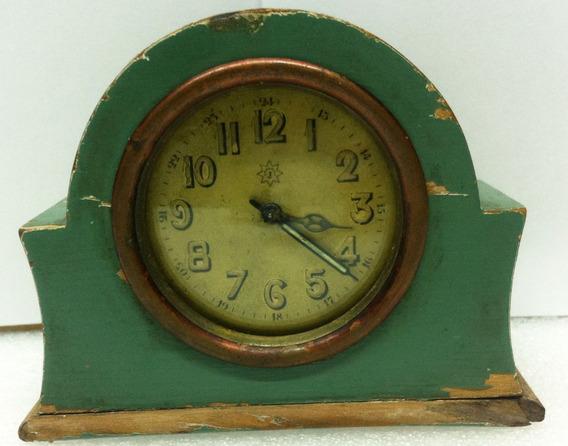 Antiguo Reloj Despertador De Madera/metal No Funciona