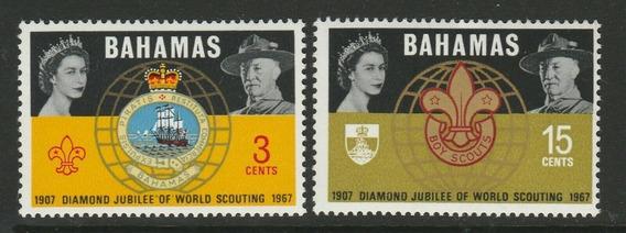 1967 - Jubileo Movimiento Boy Scouts- Bahamas (serie) Mnh