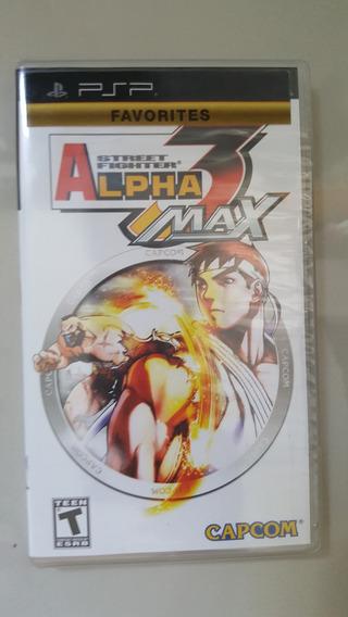 Jogo Psp - Street Fighter Alpha 3 Max - Original Lacrado
