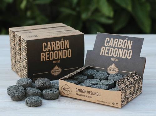 Carbón Vegetal Redondo Neutro Sagrada Madre Caja X 24 Unid