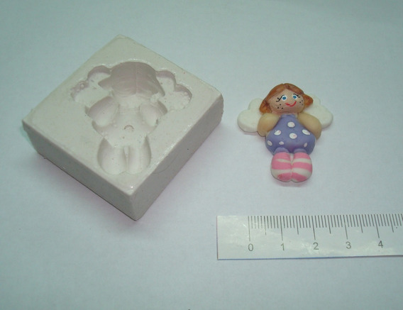 Moldes De Caucho De Silicona Hada Country P/ Porcelana Fria