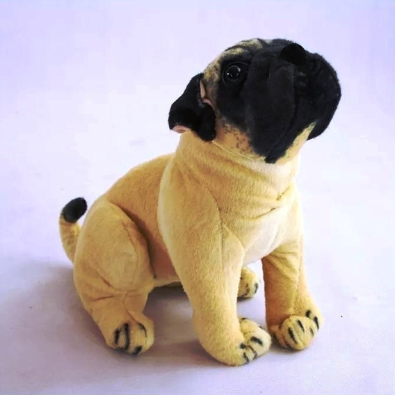 Peluche Perro Pug Sentado De 30cm