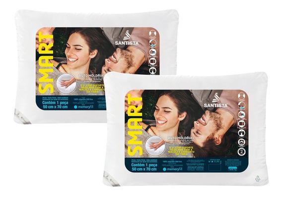Kit Travesseiros Firme/extra Firme Smart 2 Peças Unico